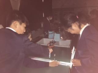 平尾中学校訪問